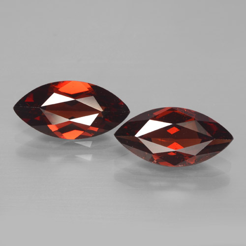 2ct Marquise Facet Merlot Red Pyrope Garnet Gem (ID: 465923)