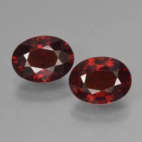 Red Pyrope Garnet Gem - 1.6ct Oval Facet (ID: 465952)