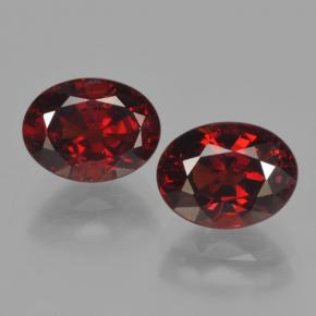 Red Pyrope Garnet Gem - 1.8ct Oval Facet (ID: 465954)