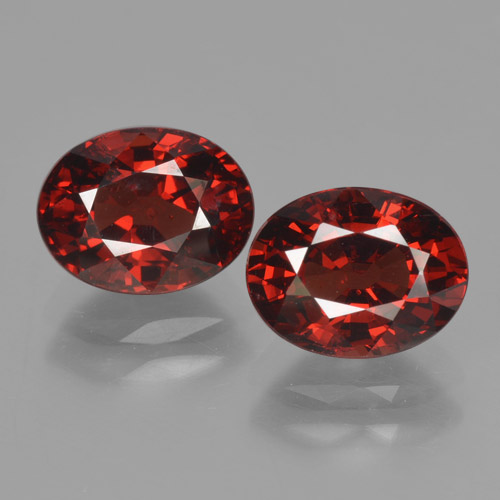 thumb image of 3.6ct Oval Facet Red Pyrope Garnet (ID: 465955)