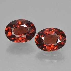 thumb image of 3ct Oval Facet Red Pyrope Garnet (ID: 465960)