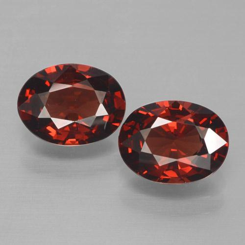 Red Pyrope Garnet Gem - 1.5ct Oval Facet (ID: 465992)