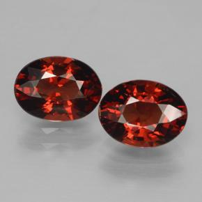 Deep Blood Red Granate Piropo Gema - 1.5ct Forma ovalada (ID: 465996)