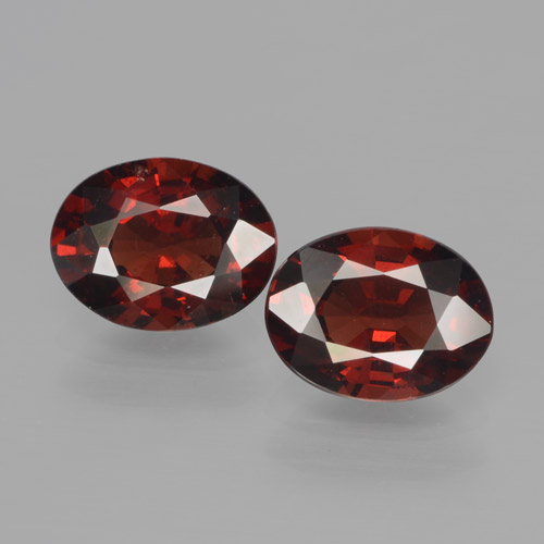 Red Pyrope Garnet Gem - 1.5ct Oval Facet (ID: 466073)