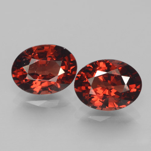 Red Pyrope Garnet Gem - 1.6ct Oval Facet (ID: 466111)