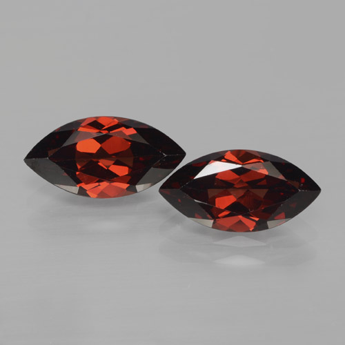 2.1ct Marquise Facet Deep Red Pyrope Garnet Gem (ID: 466122)