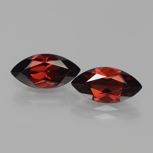 2.3ct Marquise Facet Dark Red Pyrope Garnet Gem (ID: 466124)