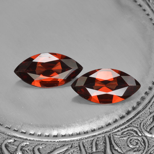 Red Pyrope Garnet Gem - 1.5ct Marquise Facet (ID: 466125)