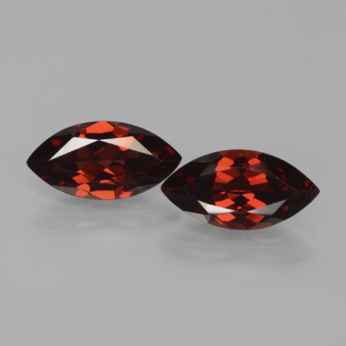 2ct Marquise Facet Deep Red Pyrope Garnet Gem (ID: 466126)