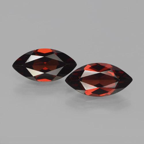 Deep Blood Red Pyrope Garnet Gem - 2.1ct Marquise Facet (ID: 466127)