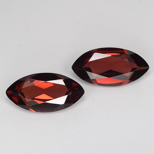 Red Pyrope Garnet Gem - 1.9ct Marquise Facet (ID: 466128)