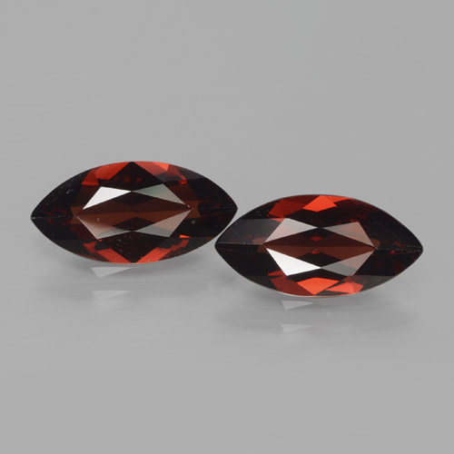 1.9ct Marquise Facet Deep Red Pyrope Garnet Gem (ID: 466129)