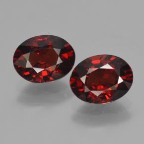 Red Pyrope Garnet Gem - 1.6ct Oval Facet (ID: 466132)