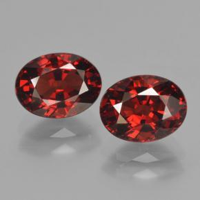 1.7ct Oval Facet Red Pyrope Garnet Gem (ID: 466133)