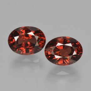 Red Pyrope Garnet Gem - 1.8ct Oval Facet (ID: 466144)