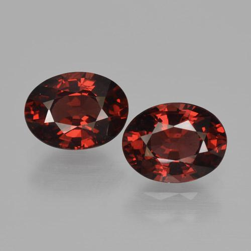 Deep Red Pyrope Garnet Gem - 1.7ct Oval Facet (ID: 466175)
