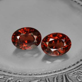 Red Pyrope Garnet Gem - 1.9ct Oval Facet (ID: 466176)