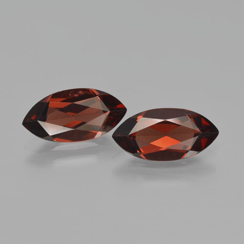 1.9ct Marquise Facet Sangria Red Pyrope Garnet Gem (ID: 466193)