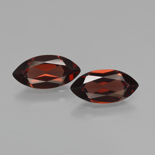 1.9ct Marquise Facet Deep Red Pyrope Garnet Gem (ID: 466195)