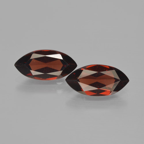Red Pyrope Garnet Gem - 2ct Marquise Facet (ID: 466197)