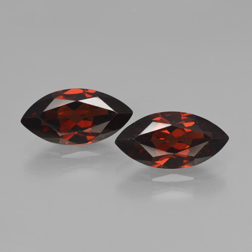 2.2ct Marquise Facet Deep Red Pyrope Garnet Gem (ID: 466199)