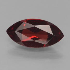 1.9ct Marquise facette Deep Blood Red Grenat Pyrope gemme (ID: 466217)