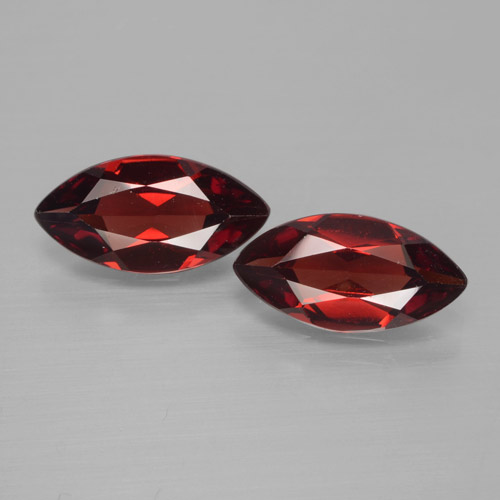 1.8ct Marquise Facet Deep Red Pyrope Garnet Gem (ID: 466228)