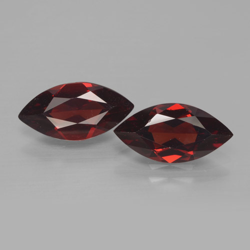 1.9ct Marquise Facet Dark Red Pyrope Garnet Gem (ID: 466230)