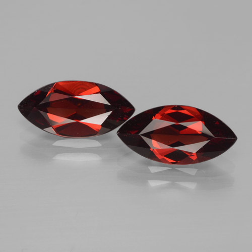 1.9ct Marquise facette Deep Blood Red Grenat Pyrope gemme (ID: 466231)