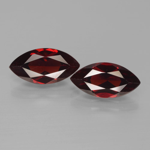 2.2ct Marquise Facet Dark Red Pyrope Garnet Gem (ID: 466233)