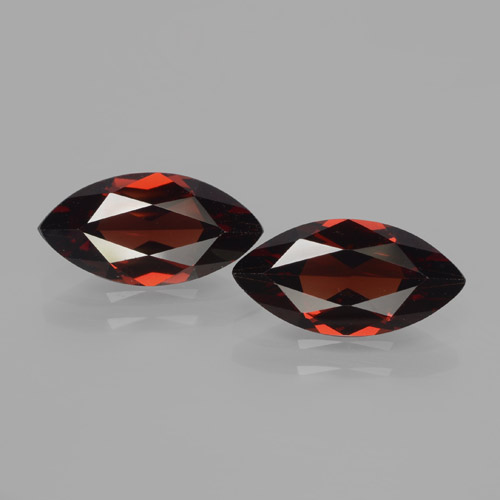 1.9ct Marquise Facet Dark Red Pyrope Garnet Gem (ID: 466236)