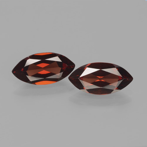 Dark Red Pyrope Garnet Gem - 1.9ct Marquise Facet (ID: 466237)