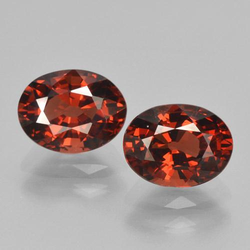 Red Pyrope Garnet Gem - 1.7ct Oval Facet (ID: 466286)