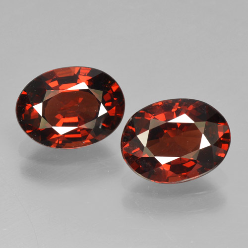Red Pyrope Garnet Gem - 1.5ct Oval Facet (ID: 466288)
