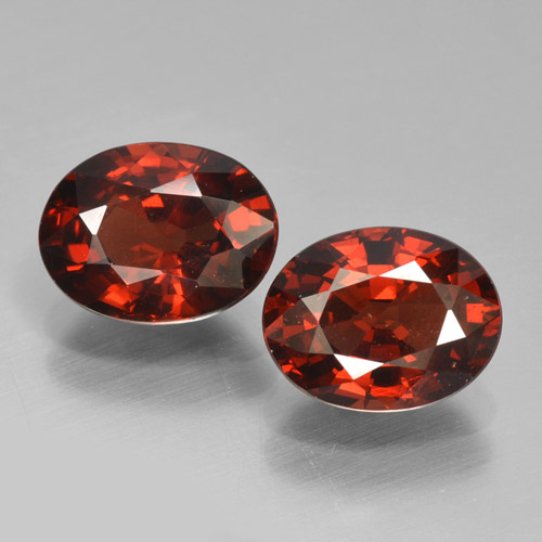 Red Pyrope Garnet Gem - 1.6ct Oval Facet (ID: 466289)