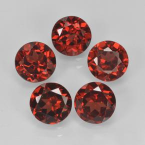 Red Pyrope Garnet Gem - 1ct Round Facet (ID: 477955)