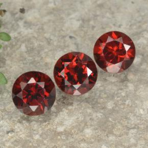 Red Pyrope Garnet Gem - 1.1ct Round Facet (ID: 477962)