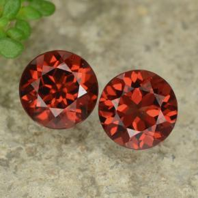 Red Pyrope Garnet Gem - 1.1ct Round Facet (ID: 478043)