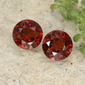 Currant Red Pyrope Garnet Gem - 1ct Round Facet (ID: 478119)
