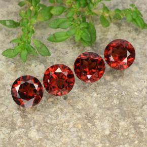Red Pyrope Garnet Gem - 1ct Round Facet (ID: 478241)