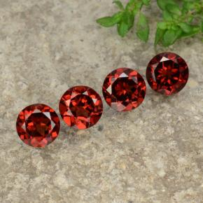 Red Pyrope Garnet Gem - 1ct Round Facet (ID: 478248)