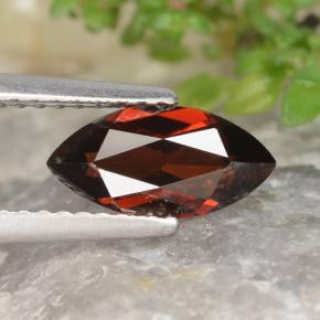 1.3ct Marquise Facet Merlot Red Pyrope Garnet Gem (ID: 478939)