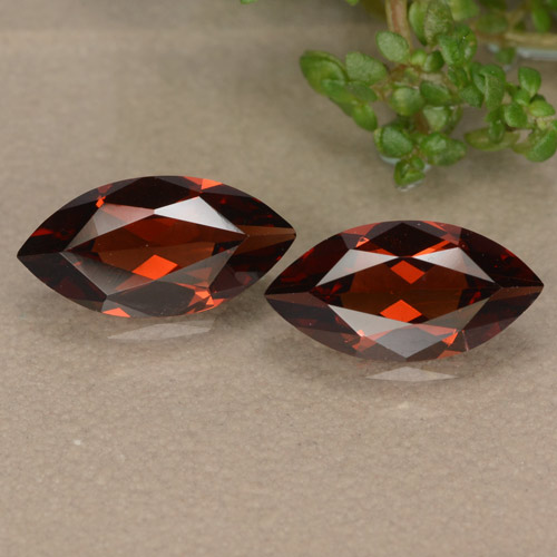 Deep Red Pyrope Garnet Gem - 1.1ct Marquise Facet (ID: 479005)
