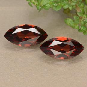 Deep Red Pyrope Garnet Gem - 1.3ct Marquise Facet (ID: 479007)