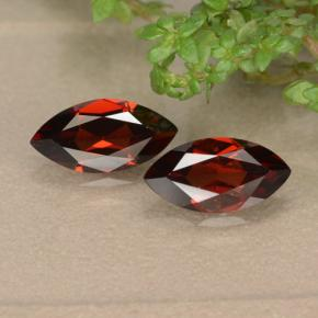 Red Pyrope Garnet Gem - 1.2ct Marquise Facet (ID: 479009)