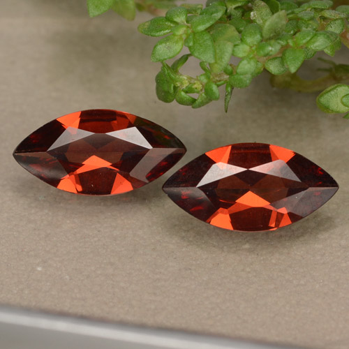 Red Pyrope Garnet Gem - 0.9ct Marquise Facet (ID: 479010)