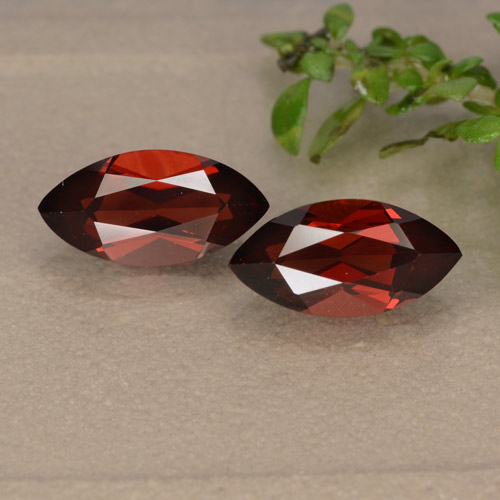 Red Pyrope Garnet Gem - 1.5ct Marquise Facet (ID: 479011)