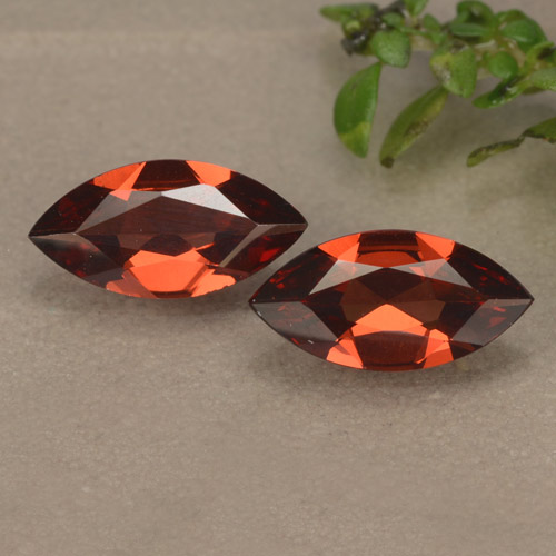 Red Pyrope Garnet Gem - 0.9ct Marquise Facet (ID: 479012)