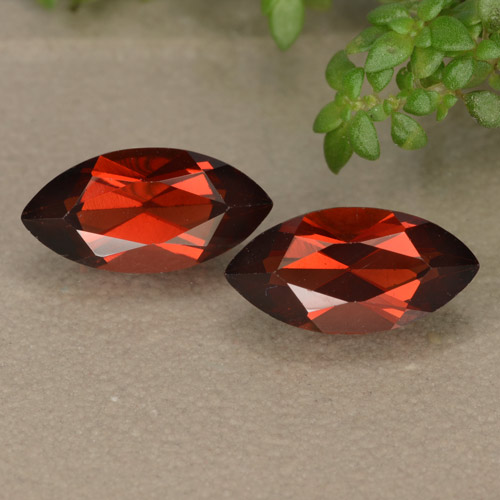 Red Pyrope Garnet Gem - 1.4ct Marquise Facet (ID: 479015)