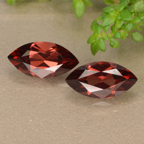 Red Pyrope Garnet Gem - 1.3ct Marquise Facet (ID: 479016)
